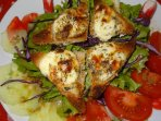 la salade de toasts de chevre chauds