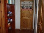 door to storage room