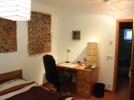 bedroom with working table (WLAN + LAN)
