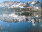 Lakeland Lodge: Lake District National Park UNESCO World Heritage Designated Site In Winter.