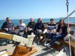 Guests onboard enjoying a cuppa in the sunshine!