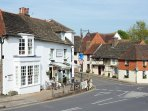 Steyning town dates back to the 16th century - beautiful sussex timber framed houses.