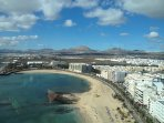 View from 17th floor cafe of The Gran Hotel Arrecife