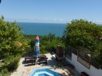 Our panoramic views of the Black Sea. Photo taken  from the BBQ area