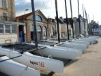 Book sailng lessons or hire sailing/ kayaking equipment on the seafront