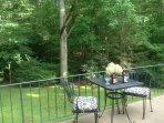 Large deck overlooking the mature woods. Very private.