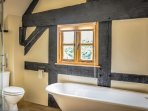 En Suite Bathroom with Roll Top Bath