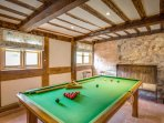 Games Room with Snooker Table