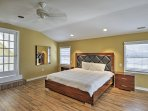 You'll love this inviting bedroom.