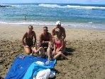 Our family at Poipu Beach