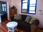Ethan Allen sofa - looking towards kitchen