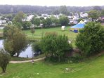 Overview Domaine d Litteau fishing lake .Circus July & August