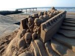 Sand sculpture at Vieville sur Mer .Omaha Beach