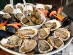 Normandy surrounded by the sea . Fruits de Mer