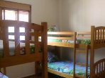 Bedroom with 4 confortable bunk beds