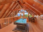 Luxury Cabin with 2 Master Suites, Game Room, Pool Table and Hot Tub