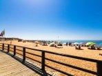 Luz beach, 2 km