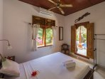 One of the two bedrooms in the garden suite of Villa Sinar Cinta.