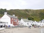 Ty Coch Inn in the next bay - voted 3rd best beach bar in the world