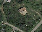 Vista della villa dal satellite