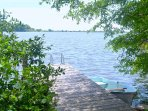 Spectacular lakefront view! Swimming, boating, privacy.