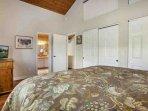 Comfortable king bed, plenty of closet space and en-suite master bathroom.