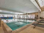 Largest indoor pool in the Vail Valley.  Plenty of space to play with the family!