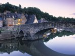 This is Dinan, great for shopping and eating out.