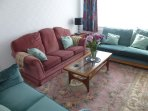The spacious lounge has comfortable sofas for chilling out and relaxing