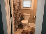 Full Bathroom with towels, blowdryer