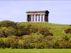 Penshaw monument, a 20 minute stroll from the bungalow