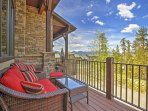 Take in gorgeous views on the deck.