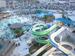 Aerial view of Schlitterbahn Water Park - just a minute away.