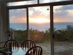 Enjoy the sunset while dining