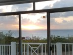 View the sunset from the master bedroom