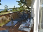 Deck has B.Q., Table for 6 plus love seat and 2 chairs