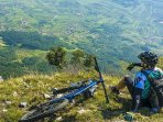 Mountain biking on the local hill