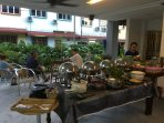 The patio has ample space to host a small gathering - tgther with our homecooked buffet catering