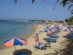 The lovely Corallia Beach.