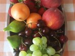 Complimentary basket of local fresh fruit