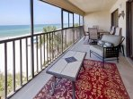 Spacious Balcony - There is more than enough room for you and your guests to gather here on the balcony to enjoy some...