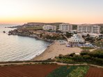 Golden Bay - One Of Malta's Most Beautiful Beach Just 10 Minutes By Bus.