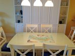 Dining Table with Sanibel Map