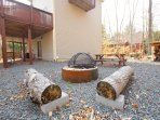 Firepit and picnic table