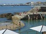 The sea water swimming pool