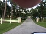 Magnificent gated front entrance to home and property