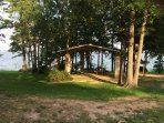 Lake side area for family cook out