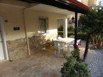 9 metre x 2.5 metre veranda  makes outdoor living a real option at Villa Efes