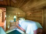 Upstairs bedroom with 2 twin beds