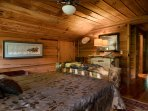Aspen log furniture with queen bed